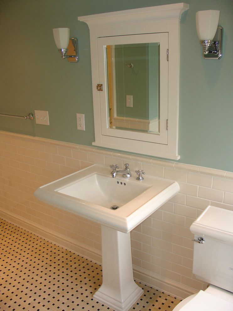 Watermark Apartments for a Traditional Bathroom with a Traditional Floor Tile and Bathroom Remodel by One Room at a Time, Inc.