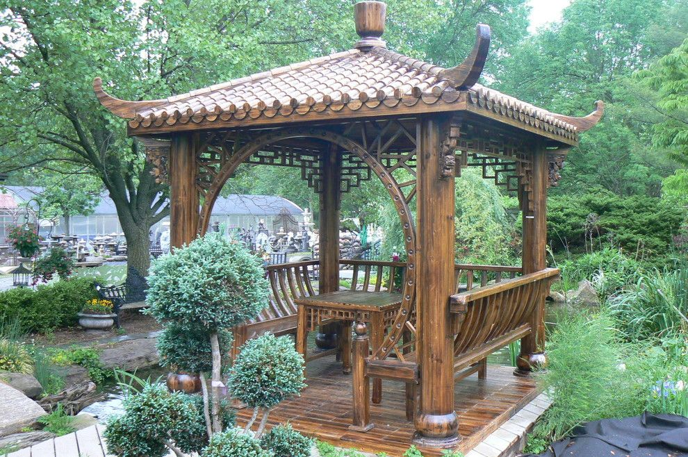 Waterscapes for a Asian Deck with a Asian and Waterscape by Curb Appeal Design Llc