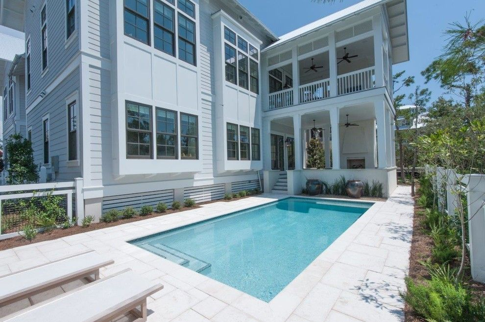 Watersound Florida for a Beach Style Pool with a Beach Cottage and 277 Western Lake by Chancey Design
