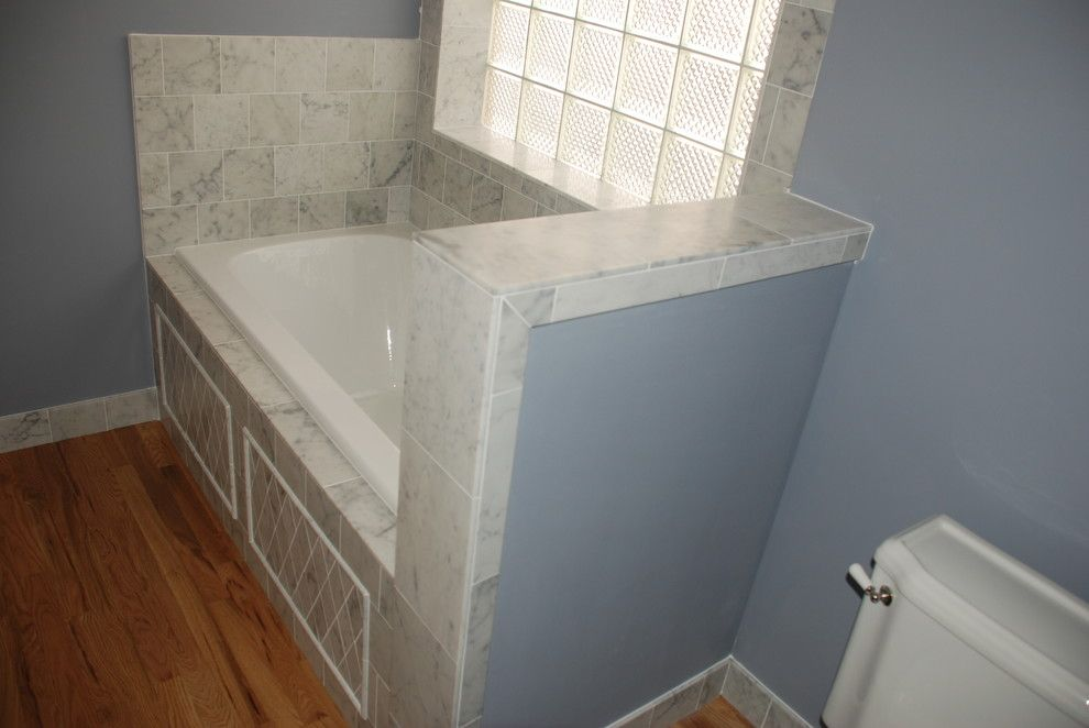 Waterworks Denver for a Mediterranean Bathroom with a Marble and 2 by Knapp Tile and Marble