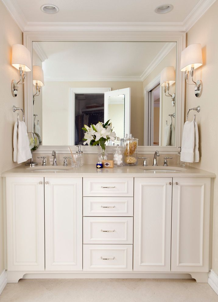 Waterworks Denver for a Traditional Bathroom with a Vanity Sconces and Bonnie Brae Master Bathroom by Laura Iverson Design