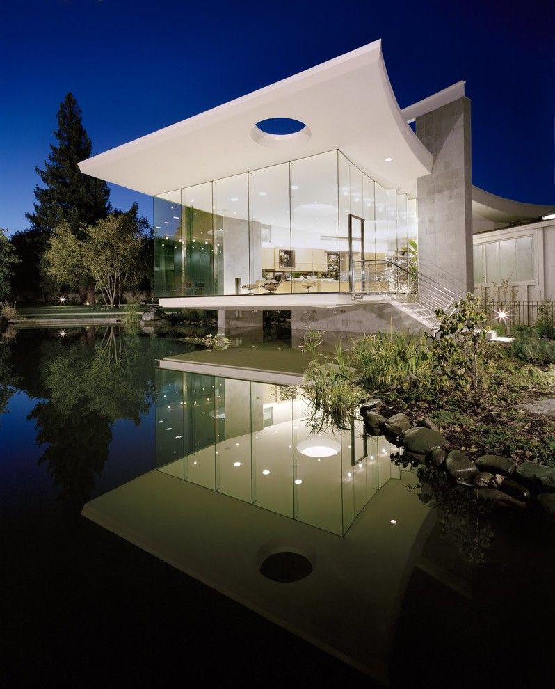 Weather Lakeside Ca for a Contemporary Exterior with a Cantilever and Lakeside Studio by Mark Dziewulski Architect