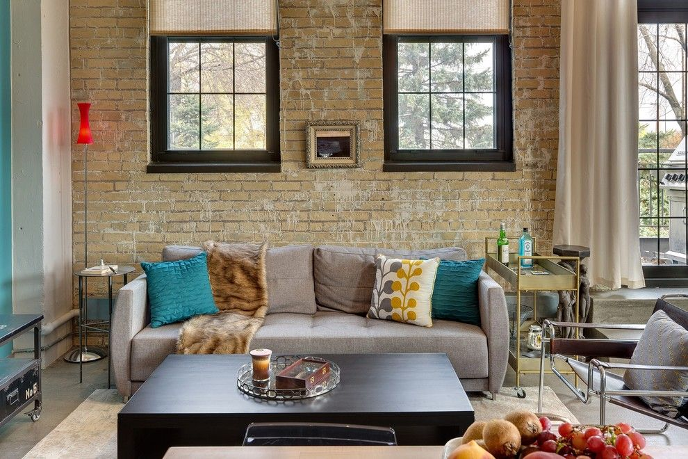 Weather Woodinville Wa for a Industrial Living Room with a Armchair and Minneapolis Interior Designer   Eclectic Loft by Tiffany Hanken Design