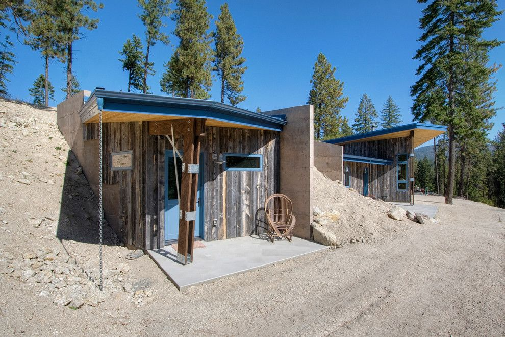 Weather Woodinville Wa for a Rustic Porch with a Concrete and Earth Flow by Copeland Architecture & Construction Inc