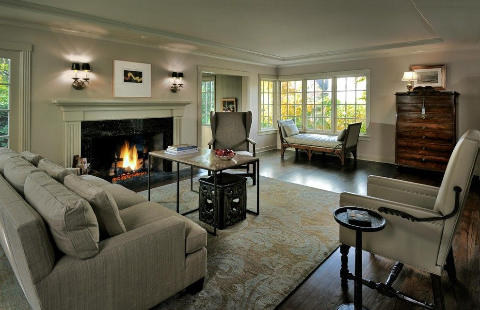 Weather Woodinville Wa for a Traditional Living Room with a Social and Living Room by Paula Devon Raso Interior Design