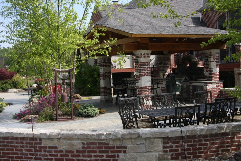 Weber Grill Indianapolis for a Rustic Spaces with a Arbor and the Kaplan Residence by Pro Care Horticultural Services