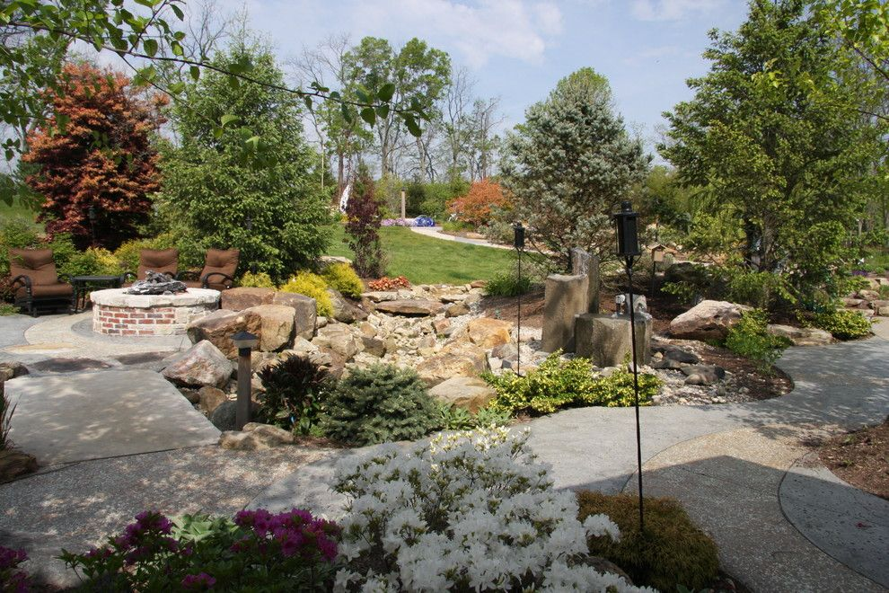 Weber Grill Indianapolis for a Rustic Spaces with a Natural Stone and the Kaplan Residence by Pro Care Horticultural Services