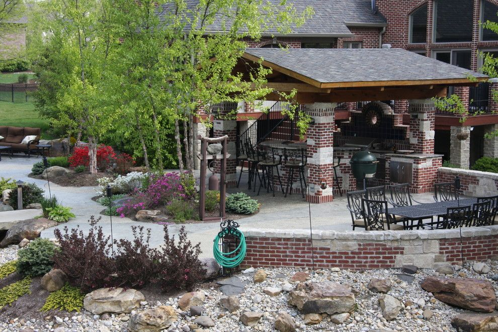 Weber Grill Indianapolis for a Rustic Spaces with a Outdoor Grill and the Kaplan Residence by Pro Care Horticultural Services