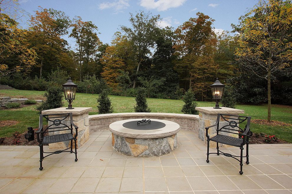 Weichert Nj for a Traditional Patio with a Limestone Patio and Rear Yard Elegance by L&l Builders Corp