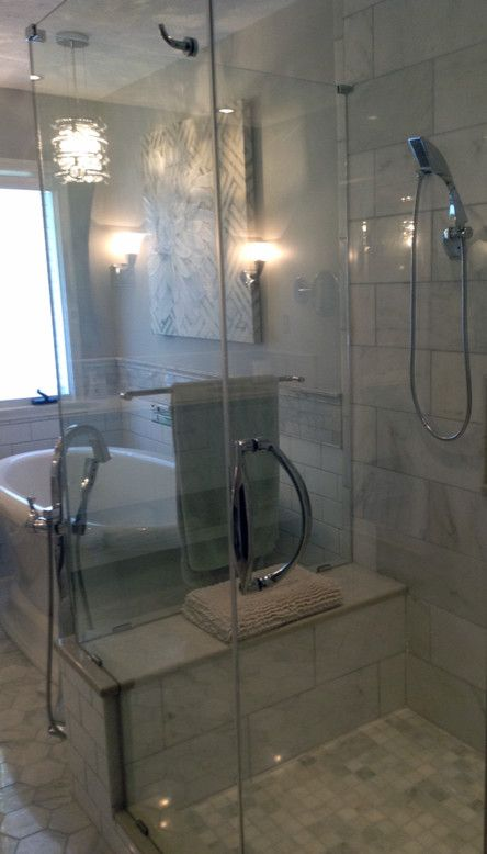 Weinstein Plumbing Supply for a  Spaces with a Shower Door and Bathrooms From Our Designers by Economy Plumbing Supply & the Homestyle Showrooms