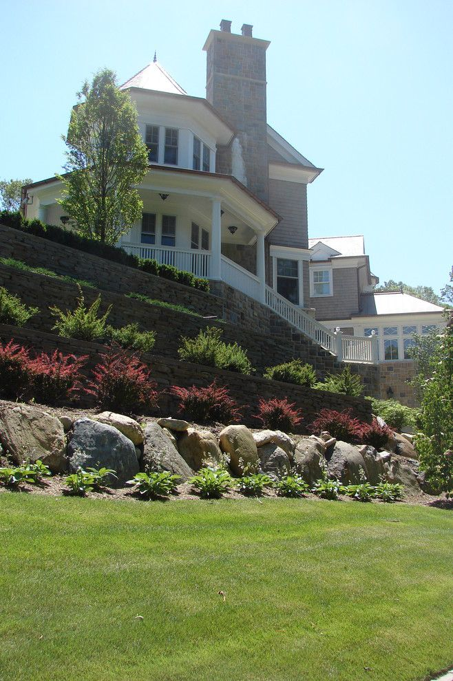 West Chester Lawn and Garden for a Traditional Landscape with a Boulders and Cove Neck by Harrison Design