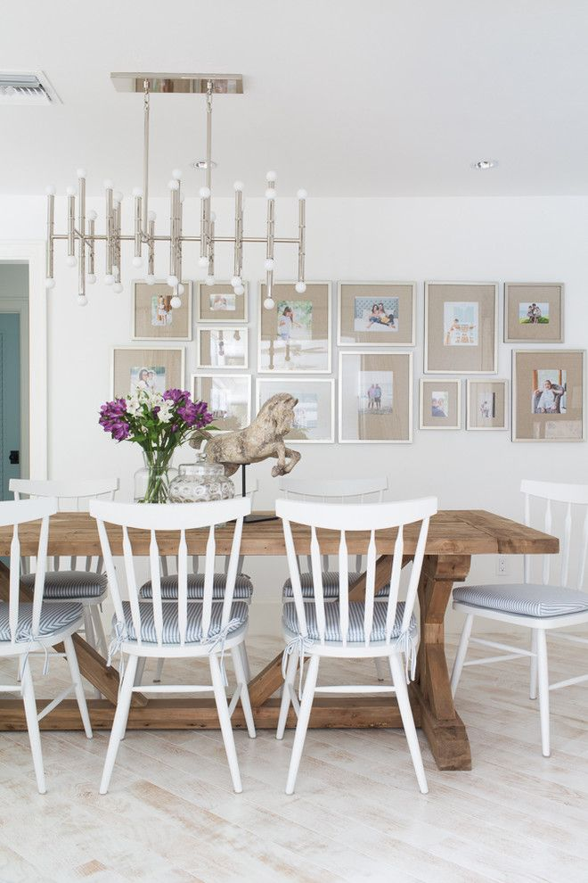West Elm Chelsea for a Beach Style Dining Room with a Tranquil and Florida Home by Lischkoff Design Planning