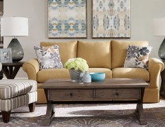 Westside Furniture for a Transitional Living Room with a Wood Coffee Table and La-Z-Boy by La-Z-Boy