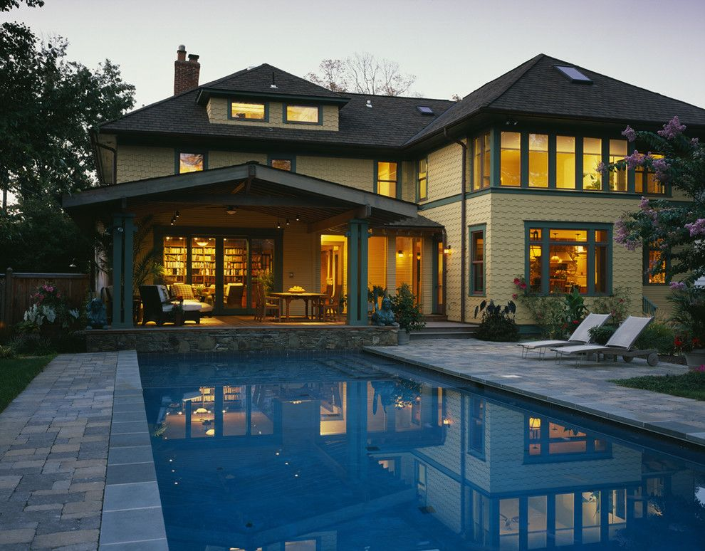 What is a Chiver for a Craftsman Pool with a Skylights and Tropical Craftsman by Gardner Architects Llc