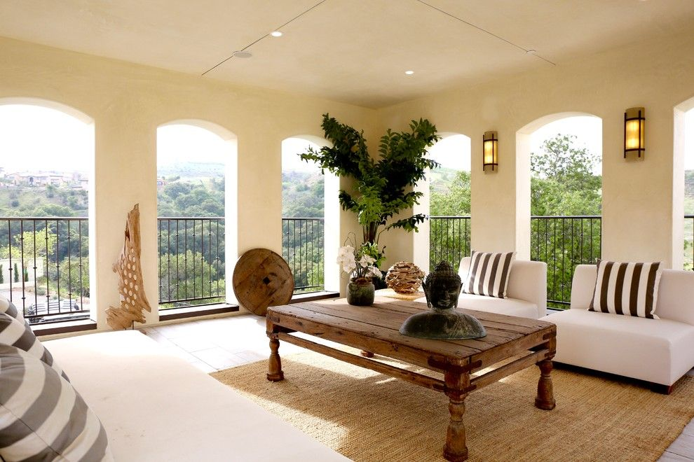 What is a Chiver for a Mediterranean Balcony with a California Room and Vellano Spec Home by Breeze Giannasio Interiors