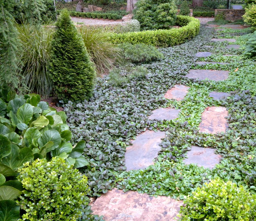 What is a Chiver for a Traditional Landscape with a Ironstone Wall and Cool Climate Garden by Arthur Lathouris Garden Designer