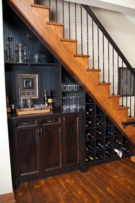 What is a Humidor for a Eclectic Staircase with a Wine Storage and Wenatchee House by Shugart Wasse