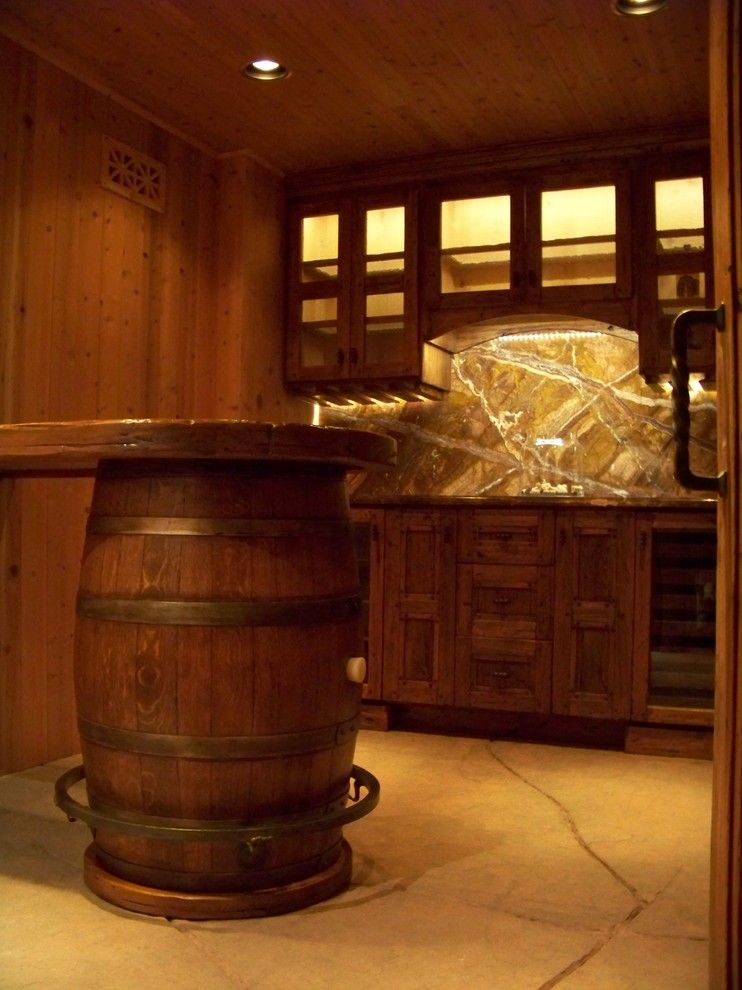What is a Humidor for a Mediterranean Wine Cellar with a Doors and Skiby & Sons Wine Cellar by Skiby & Sons