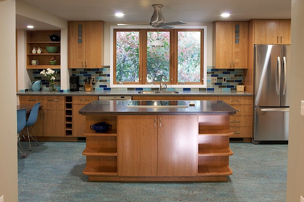What is an Induction Cooktop for a Traditional Kitchen with a Low Voc and Ecoblue Kitchen by Brennan + Company Architects