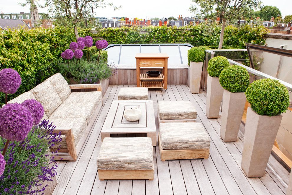 Whisler Land Company for a Contemporary Deck with a Rooftop Deck and Stratford Road by Randle Siddeley