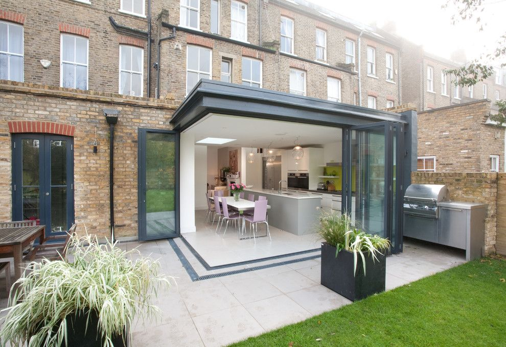 Whisler Land Company for a Contemporary Patio with a Outdoor Dining Area and Kitchen Extension 1 by Architect Your Home