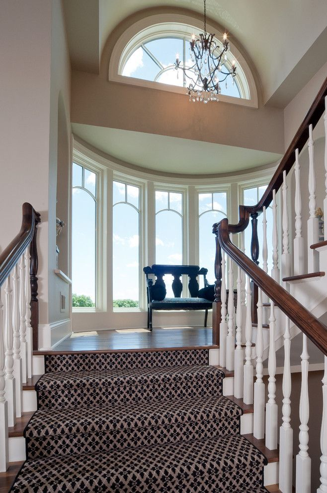 Whisler Land Company for a Traditional Staircase with a Traditional and Medina Luxury Home by Schrader & Companies