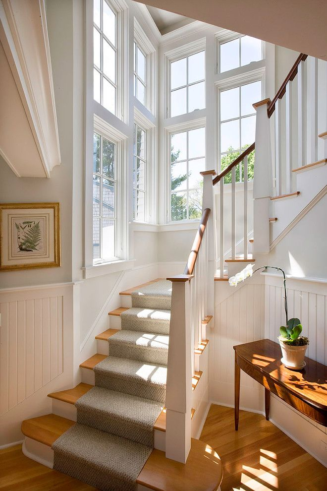 Whisler Land Company for a Victorian Staircase with a Hall and Barrington Cottage by Christopher Hall Architect, Inc.