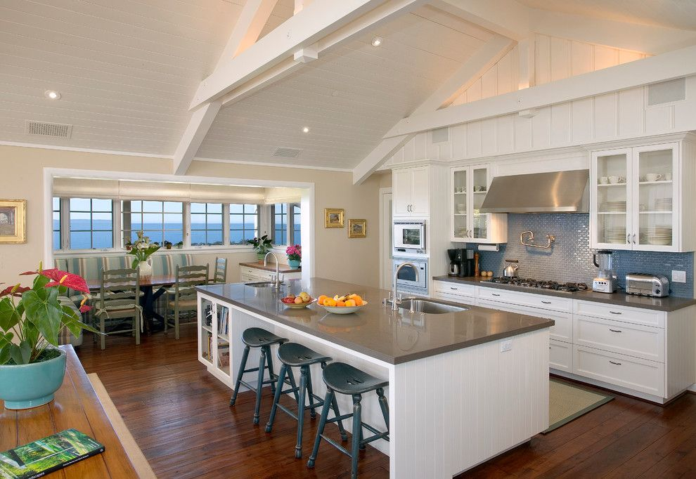 Whistling Kettle for a Traditional Kitchen with a Drawer Pulls and Santa Barbara Hope Ranch by Andrulaitis + Mixon
