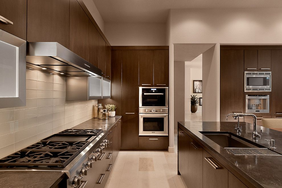 Who Makes Kenmore Appliances for a Contemporary Kitchen with a Undercabinet Lighting and Ownby Design by Ownby Design