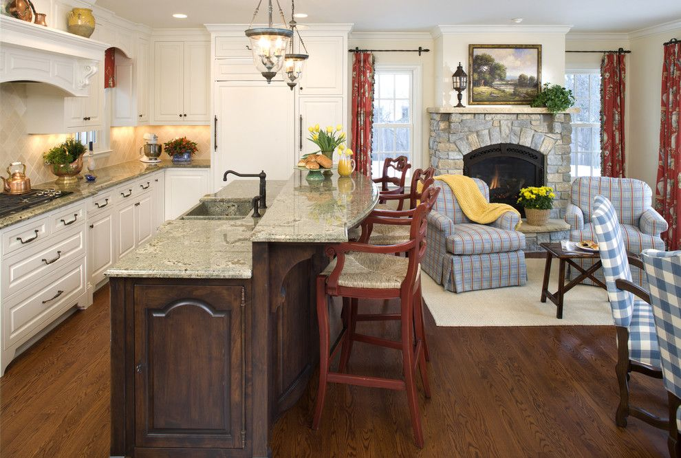 Who Makes Kenmore Appliances for a Rustic Kitchen with a White Wood and Edina Country Club Kitchen by John Kraemer & Sons