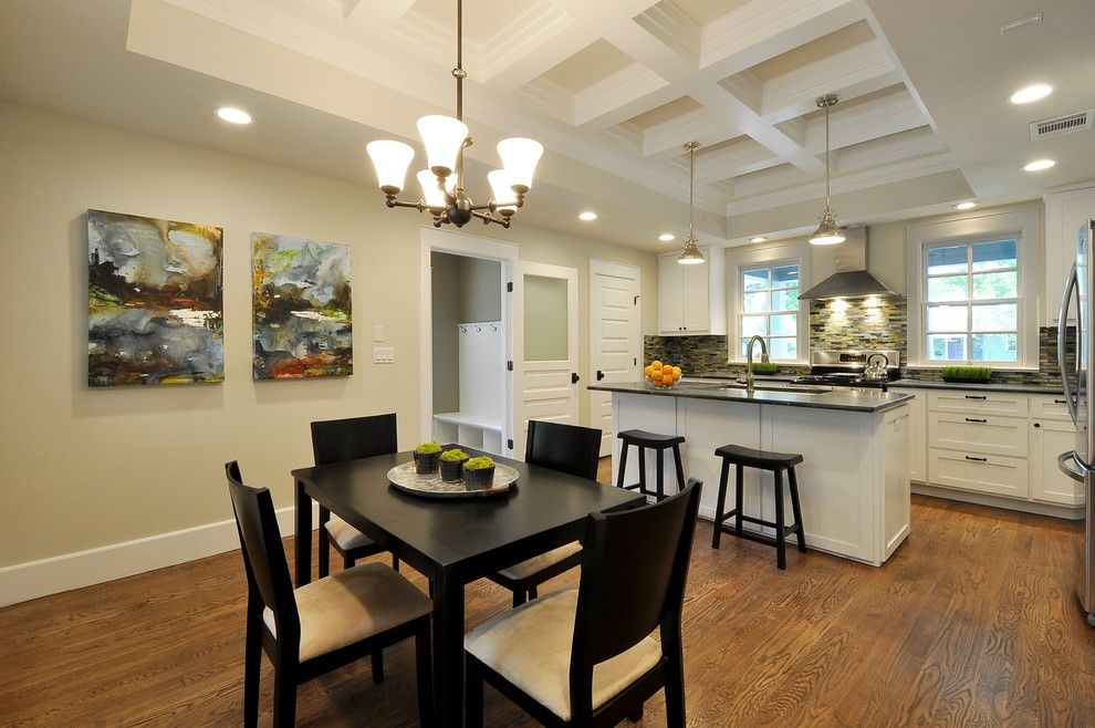 Wholesale Builders Supply for a Traditional Kitchen with a Black Dining Table and Spring Builders by Latera Architectural Surfaces / Dorado Stone