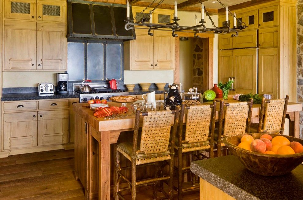 Wickenburg Ranch for a Rustic Kitchen with a Country and Colorado Mountain Ranch by Cullman & Kravis Inc