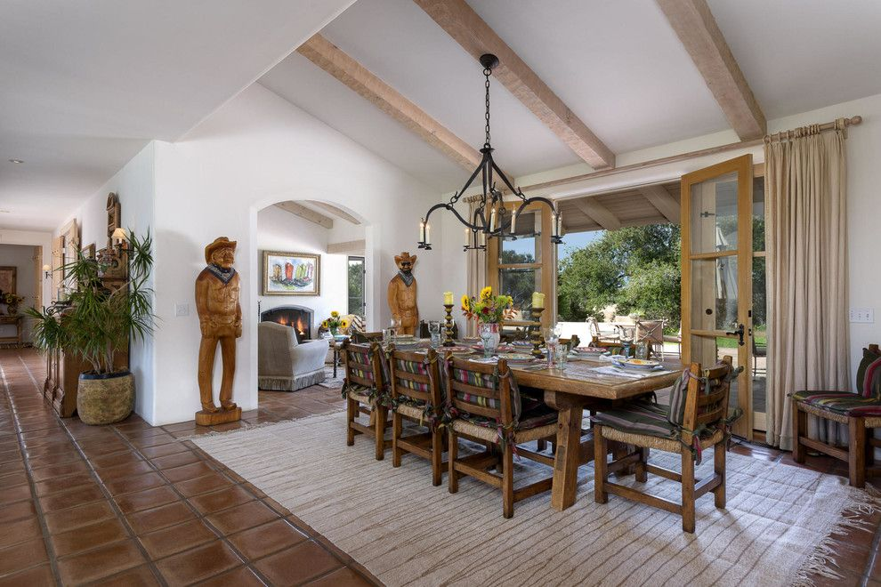 Wickenburg Ranch for a Southwestern Dining Room with a Arched Doorway and Rocking Pa Ranch :: 1450 Highway 135,Los Alamos, Ca 93440 by Epstein Partners Santa Barbara