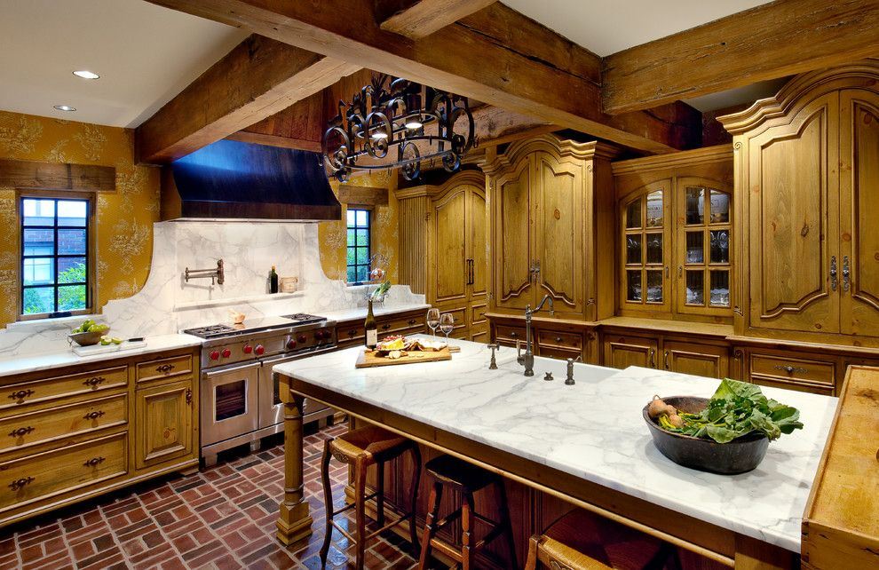 Wieland Furniture for a Traditional Kitchen with a Provencial and French Country Kitchen by Wieland Studio, Llc