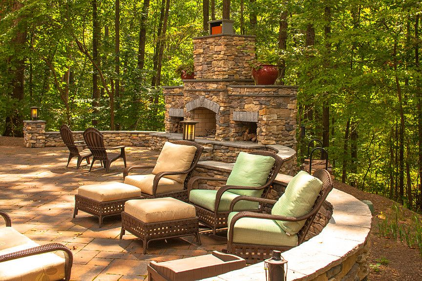 Wieland Furniture for a Traditional Patio with a Patio and Exteriors by Wall to Wall Construction, Llc
