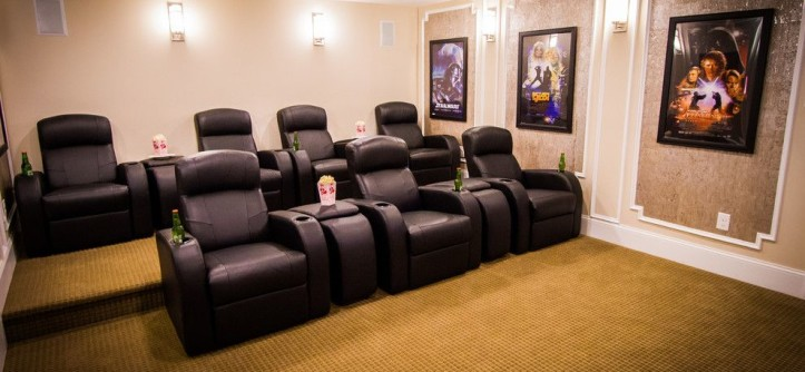 Willowbrook Theater for a Contemporary Home Theater with a Contemporary and New Construction - Willowbrook by Kingston Ko Photography