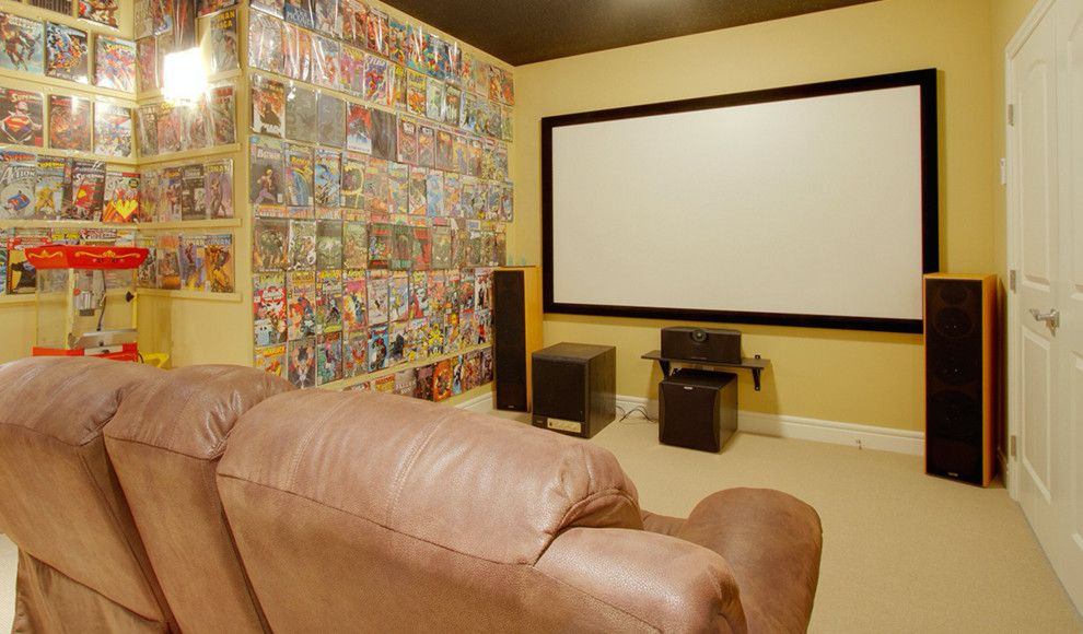 Willowbrook Theater for a Modern Home Theater with a Modern and Our Work by Willowbrook Homes Inc.