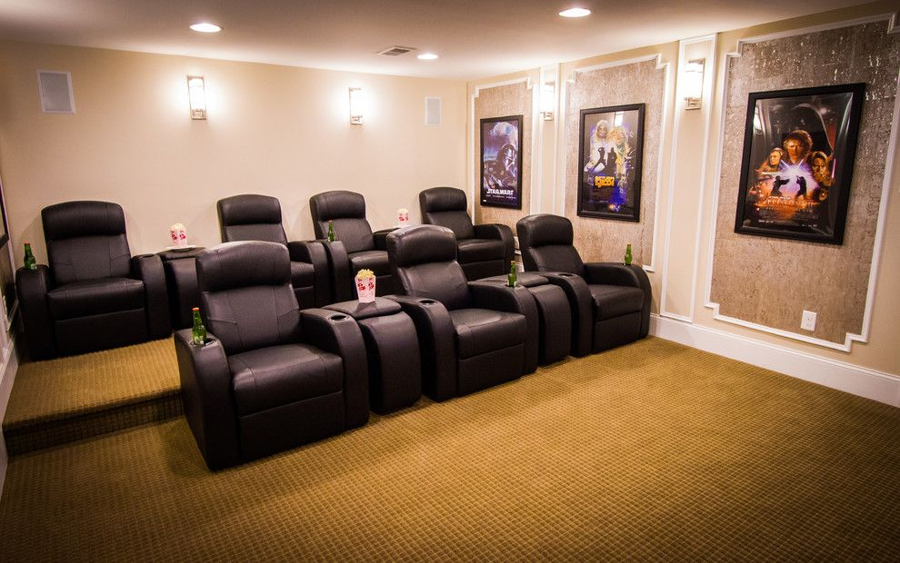Willowbrook Theater for a Traditional Home Theater with a Black Chairs and Willowbrook by Rockwell Custom