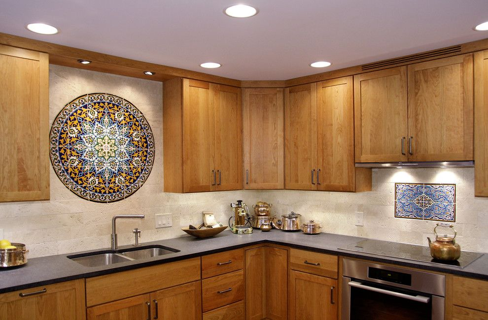 Wimsatt Building Materials for a Mediterranean Kitchen with a Mediterranean and Luther Forest Kitchen  Saratoga, Ny by Bellamy Construction