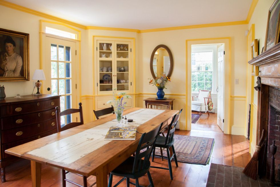 Winchester Ma Real Estate for a Farmhouse Dining Room with a Real Estate Photographer and Antique, Annisquam Ma by Salt Marsh Real Estate Photography