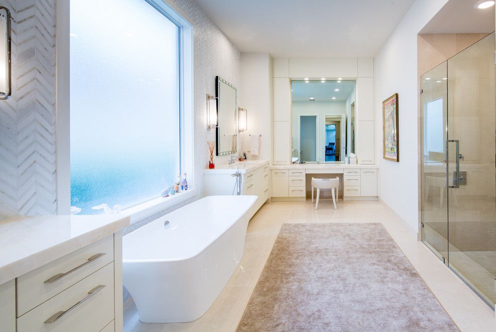 Windermere Country Club for a Contemporary Bathroom with a Beige and Avalon Pointe Woodfield Country Club Full Remodel by NMB Custom Homes and Renovations, LLC