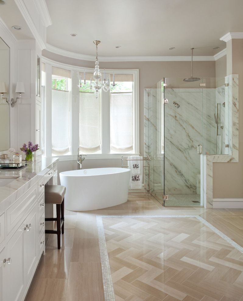 Windermere Country Club for a Traditional Bathroom with a Chandelier and Gleneagles Country Club by Armijo Design Group