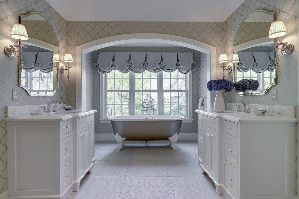 Windermere Country Club for a Victorian Bathroom with a White Sink Cabinet and Country Club Project Remodel by Great Neighborhood Homes