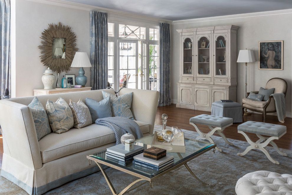 Windham Auto Sales for a Transitional Living Room with a Light Gray Wall and Living Room, American Heart Association Showhouse by Kate Singer Home