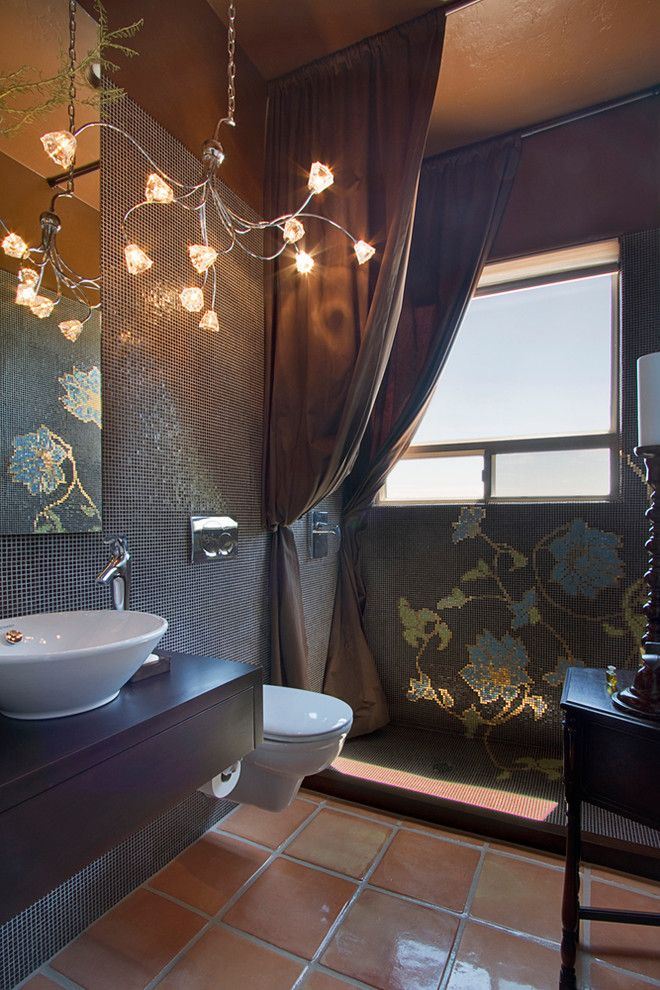 Window Depot Tucson for a Contemporary Bathroom with a Mosaic Tile and Bathrooms by Arizona Designs Kitchens and Baths