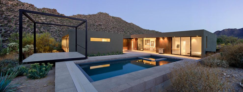 Window Depot Tucson for a Modern Pool with a Design and Levin Residence by Ibarra Rosano Design Architects