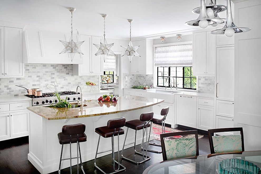 Window Depot Tucson for a Traditional Kitchen with a White Kitchen and Winnetka Residence by Alan Design Studio