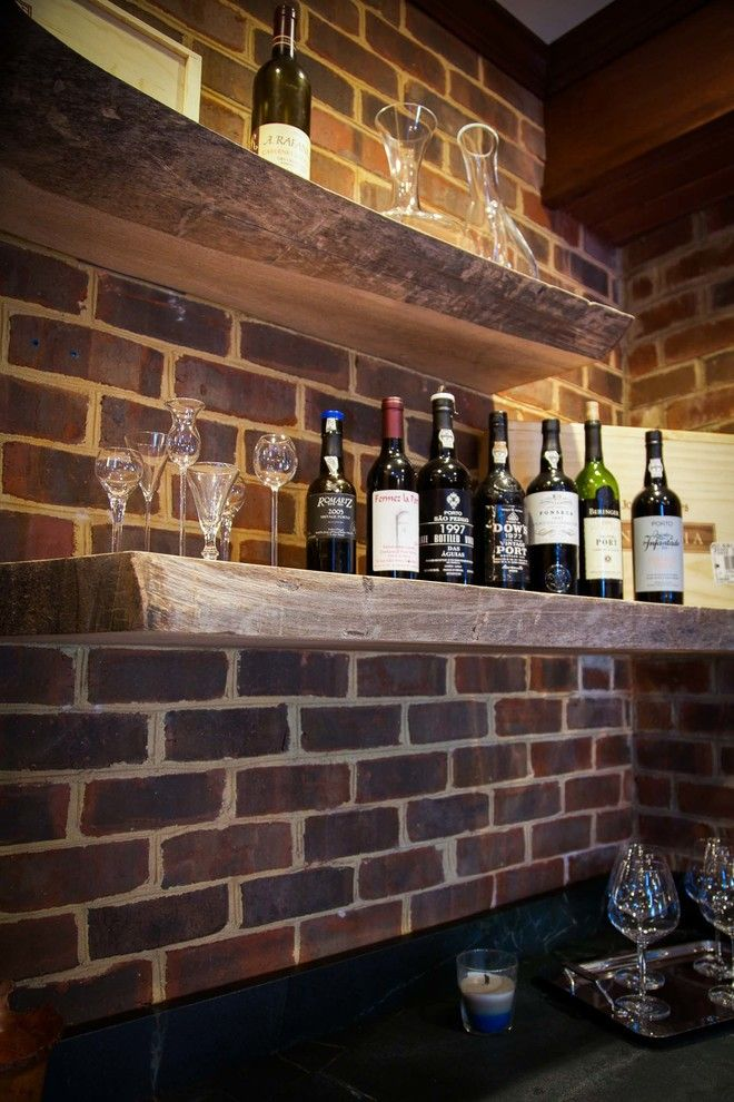 Wine and Design Richmond Va for a Rustic Spaces with a Wine Cellar and Wine Bar by Sustainable Solutions of Va