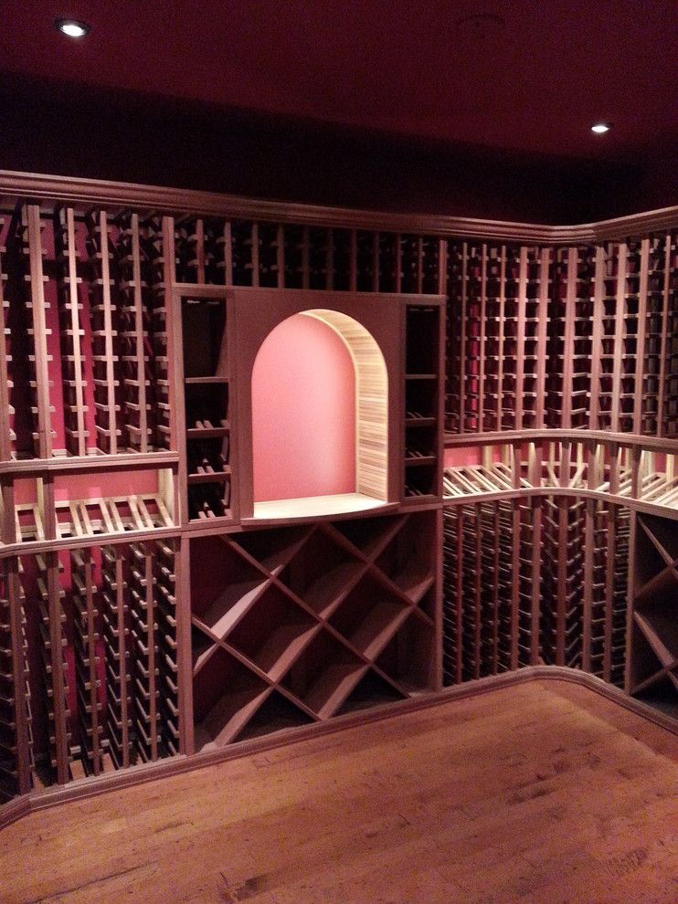 Wine and Design Richmond Va for a Traditional Wine Cellar with a Diamond Bin and Wine Cellar Build and White Glove Install in Virgina by Wineracks