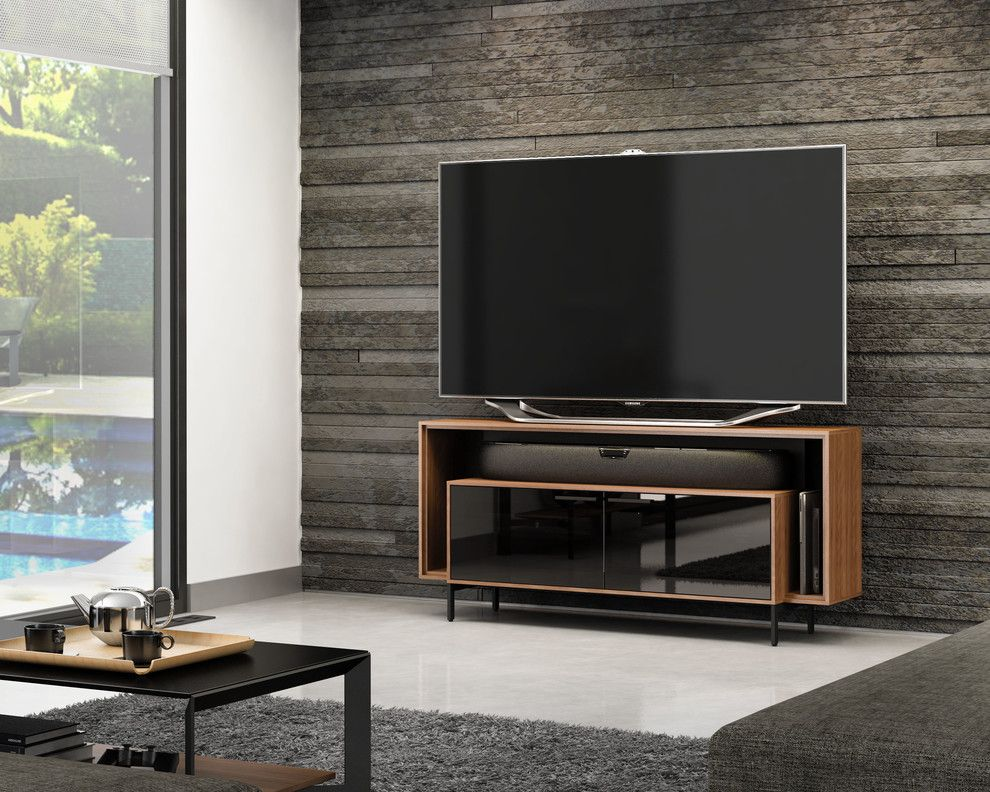 Winnetka Movie Theater for a Contemporary Living Room with a Entertainment Center and Bdi Furniture by Bdi Furniture